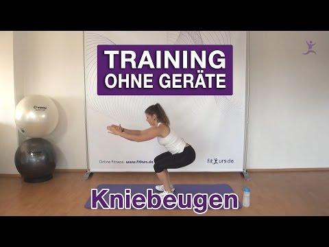 Kniebeugen (Squats) - Die besten Übungen ohne Geräte